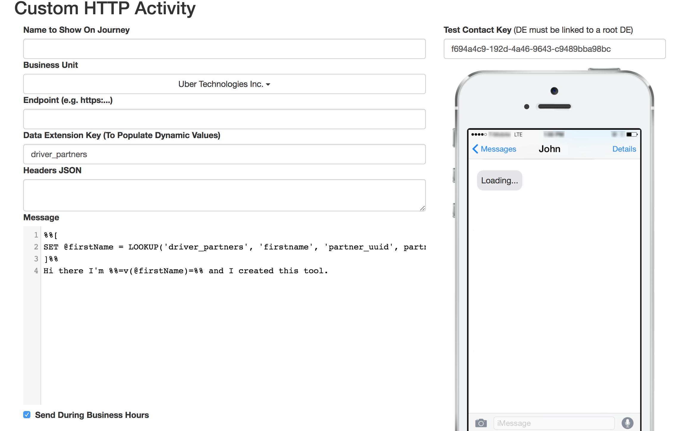 Gaining access to Uber's user data through AMPScript